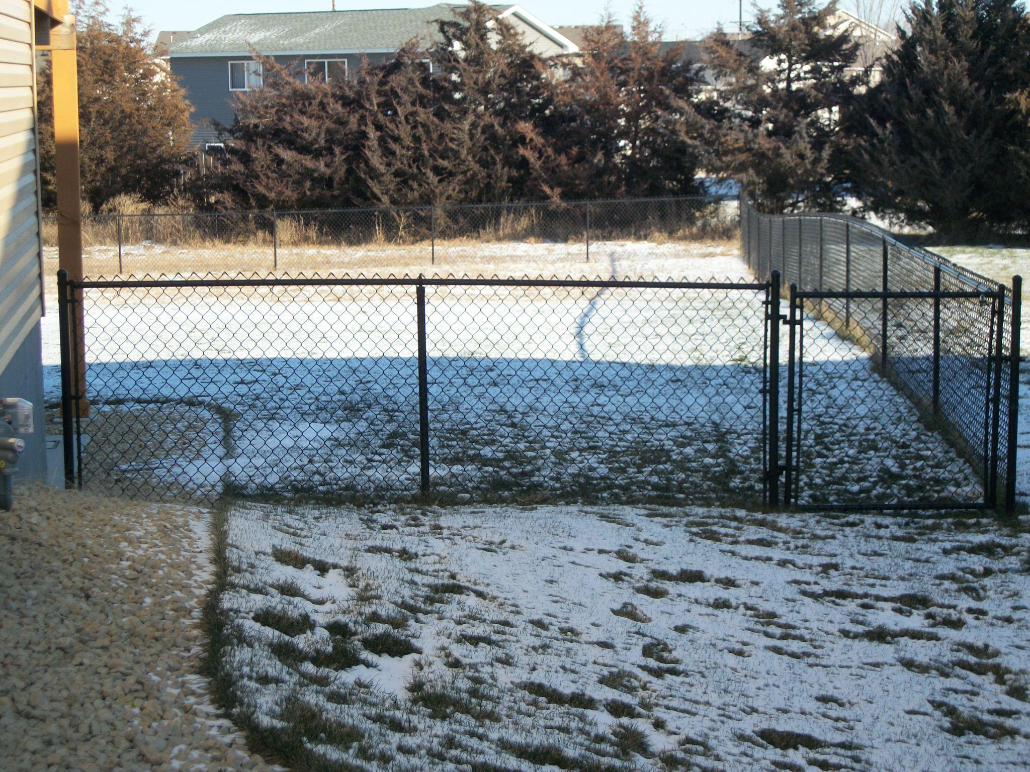 Ham Lake Black Chain Link Winter Fence Installation Ham